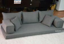 Gray Floor Sofa Arabic Oriental Couches Bohemian cushions Yoga Moroccan seating