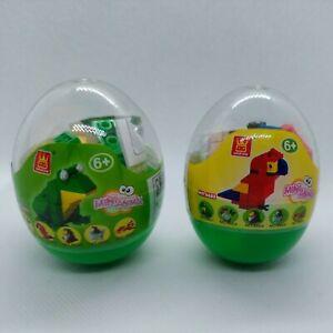 Wange Mini Animal Eggs Parrot & Frog Building Blocks Figure Set No. 6603 Sealed