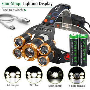 Gordon Griffiths 5 LED Cap Light Head Torch Hunting Headlamp 2 Mode