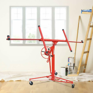 11FT Drywall Panel Hoist Dry Wall Rolling Caster Lifter Construction Tool DW11