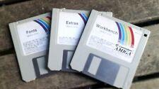 Amiga workbench 2.04 disks set +fonts+ Extras original disks booted