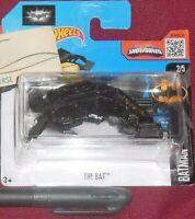 MODELLINO AEREO HOT WHEELS MOVIE SUPEREROI DC BATMAN DARK KNIGHT VEHICLE,THE BAT