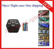 10pcs 6*18W RGBWAUV 6 in 1 Wireless DMX IR Battery Power Led Par Free Shipping