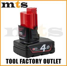 GENIUNE MILWAUKEE M12B4 M12 12V 4.0 AH RED LITHIUM BATTERY