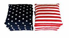 Stars and Stripes - 8 Cornhole bags American Flag Bags! W/ Free Drawstring Tote!