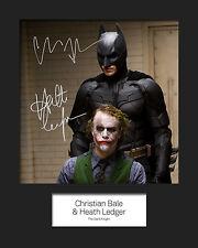 BATMAN & JOKER #1 Signed Photo Print 10x8 Mounted Photo RePrint - FREE DEL