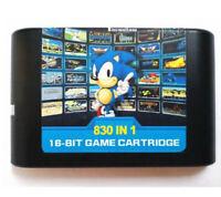 Super 830 in 1 For Sega Genesis Mega Drive Game Cartridge - 16 Bit Multi Cart