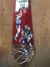 Tabasco Basketball Neck Tie Red Sports Hoops 100% Silk Italian Necktie A33