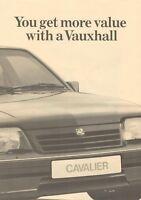 VAUXHALL ASTRA & CAVALIER COMPETITIOR COMPARISON BROCHURE. V6480 10.86 (UK)