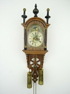Friesian Warmink WUBA Dutch Wall Clock Vintage Antique 8 day (Zaanse Era)