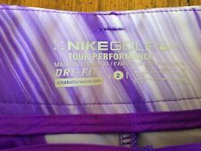 NEW! NIKE Golf Dry - Fit Skirt Tour Performance Size 2 Color Purple