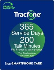 TracFone 1 Year 365 Days Service Digital Refill 200 Minutes for Basic phones
