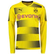 Camisetas de fútbol de manga larga en amarillo