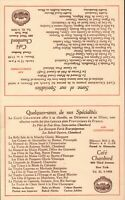 Vintage LE CAFE CHAMBORD Restaurant Menu NEW YORK, New York 1957