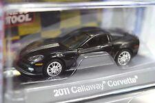 CALLAWAY CHEVROLET CORVETTE 2011 TOP GEAR AUTOWORLD AW64013B 1:64 DISPLAY CASE