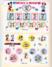 Japan, Mickey And Minnie And Micky Mouse And Friends, 2 Sheets, 50 /80 Yen
