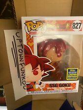 Funko POP! Hot Topic Goku Summer Convention Exclusive Shared Sticker DBZ IN HAND