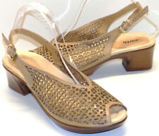 Earth Jacaranda Perforated Leather Slingback Sandals Women's US Shoe Size 8M