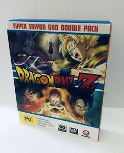 Dragon Ball Z Super Saiyan God Blu Ray 2 Pack VGC Anime PG Madman Region B Aus