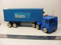 "vintage wheeler van volvo ? ARCO ""SEARS"" FRICTION BLUE TRUCK  hk 1977"