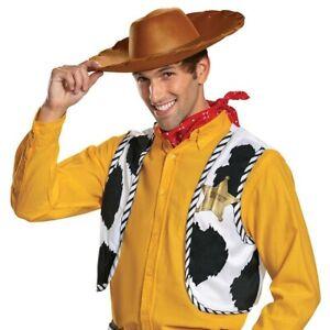 Toy Story Adult Men's Woody Costume Accessory Kit Hat Vest Bandana One Size #C38