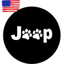"Black Paws Spare Tire Wheel Cover Protector 30"" 31"" L For Jeep Liberty Cherokee"