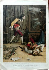 G. E. Robertson A Last Stand or For Hearth and Home Boy's Own Paper Print 1800's
