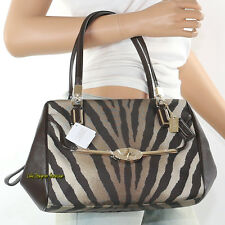 NWT Coach Madison Zebra Animal Print Shoulder Hand Bag Crossbody 26634 New RARE