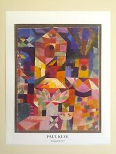 PAUL KLEE VINTAGE 1992 BURGGARTEN 1919 ORIGINAL ABSTRACT LITHOGRAPH PRINT POSTER