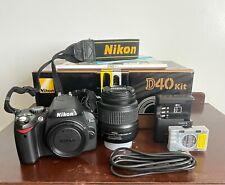 Nikon D40 6.1MP Digital SLR Camera - Black Kit w/ AF-S DX 18-55mm Lens