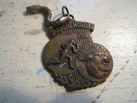 Hamilton Park DALLAS TX Bobcat Relays vintage bronze keychain medallion running