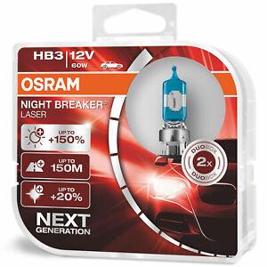 Osram Night Breaker Laser Halogen Headlight Lamp Bulbs