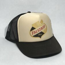Falstaff Beer Trucker Hat Vintage Brewery Snapback Cap Brown & Tan
