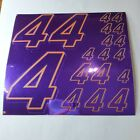 PURPLE CHROME /Gold  #4's Decal Sticker Sheet DEFECTS  1/8-1/10-1/12 RC Mo BoxD