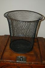 Antique Nemco 1900's Wire Mesh Office Waste Paper Basket Trash Can
