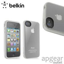 GENUINE BELKIN F8Z844CWC04 WHITE TPU CASE CASE COVER iPhone 4 4s