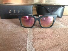 Diff Sunglasses Eyewear Black Pink Polarized Lens