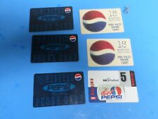 SIX PEPSI COLA, VINTAGE PHONE CARDS. FROM 1998