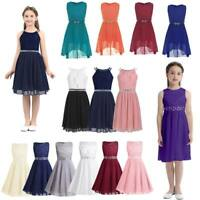 Flower Girl Kid Dress Princess Lace Party Wedding Bridesmaid Formal Pageant Gown