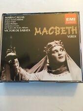Verdi: Macbeth. Maria Callas et al. de Sabata, Scala, Milan 2-CD EMI MINT BOXSET