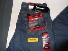 Mens Wrangler Riggs Workwear Thinsulate Insulation Lining 3M Thermal Jeans 36