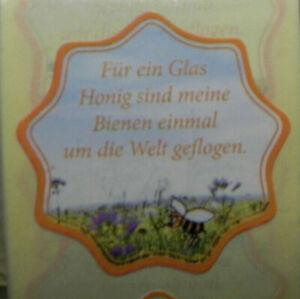 """100 Etiketten/Aufkleber """"Für ein Glas Honig sind meine Bienen....""""Imker,Imkerei"""