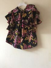 M&S Per Una Frill  Long Sleeves Top Blouse SIZE UK 12 EUR 40 NEW!