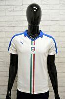 Maglia PUMA ITALIA Uomo Taglia Size XS Maglietta Shirt Man Manica Corta Bianco
