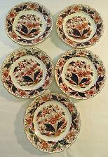 """Antique Booths DOVEDALE Plates Set 5 dessert side pie plates 7"""" A8044 Imari"""