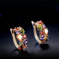 Fashion Womens Lady Elegant Crystal Rhinestone Ear Stud Earrings Jewelry