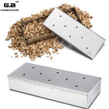 Stainless Steel Wood Chip BBQ Smoker Box - 22cm