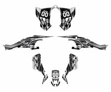 CAN AM DS 450 graphics ds450 sticker kit 2500 Gray Metal Free Custom Service