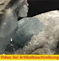 7702 Cölestin blau ca 4,5*3*10 cm Wirmsthal Germany 1979 MOVIE