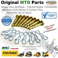 738-04124A 20 Pack Shear Pins & Cotters Cub Cadet / MTD / Troy Bilt 714-04040